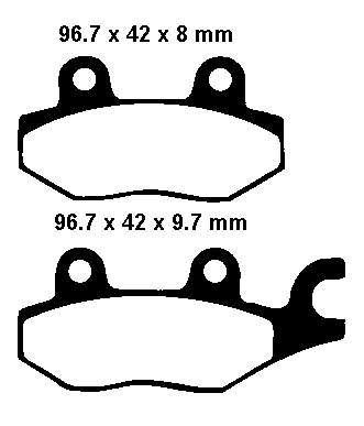 EBC Sintered Brake Pads set FA165HH