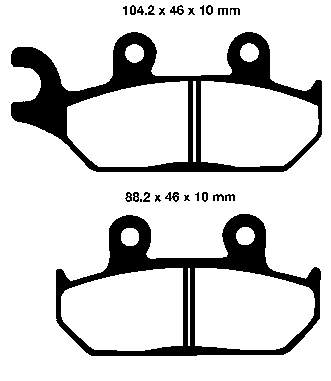 EBC Sintered Brake Pads set FA172R