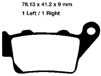 EBC Sintered Brake Pads set FA213HH