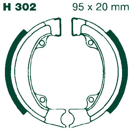 EBC Motorcycle Brake Shoe Sets H302