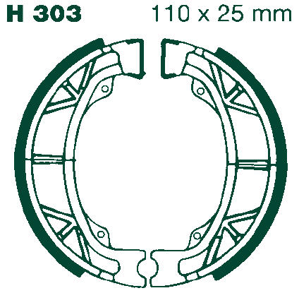 EBC Motorcycle Brake Shoe Sets H303