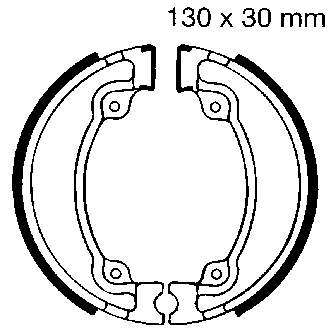 EBC Motorcycle Brake Shoe Sets H318