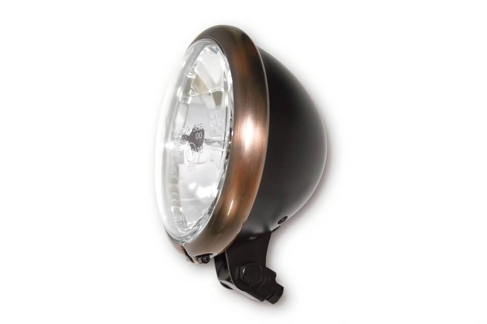 "Koplamp model Bates koper/zwart 5,75"" bottom mount(E-Keur)"