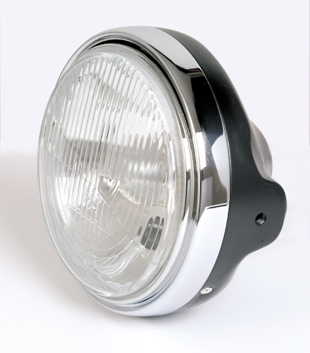 "Koplamp model LTD zwart 7""(E-keur)H4"