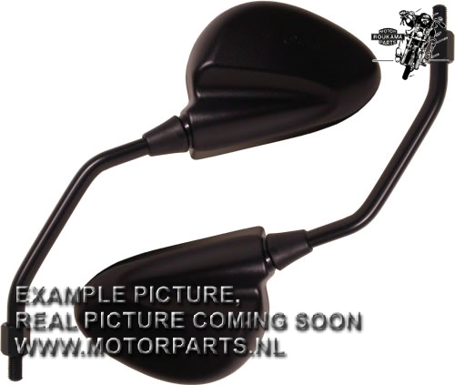 SPIEGEL PEUGEOT XP6 LINKS ZWART