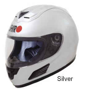 SHIRO Full Face Helmet Silver